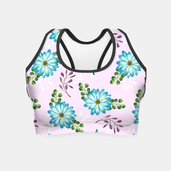 Thumbnail image of Tropical Leaves Jungle Crop Top, Live Heroes