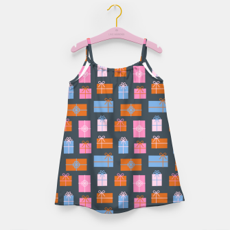 Gift Box Pattern Girl's dress Bild der Miniatur