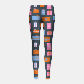 Thumbnail image of Gift Box Pattern Girl's leggings, Live Heroes