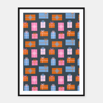Thumbnail image of Gift Box Pattern Framed poster, Live Heroes