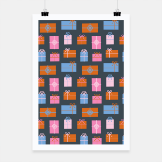 Miniatur Gift Box Pattern Poster, Live Heroes