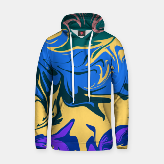 Thumbnail image of Hurricane II, abstract color storm in blue, purple and yellow Hoodie, Live Heroes