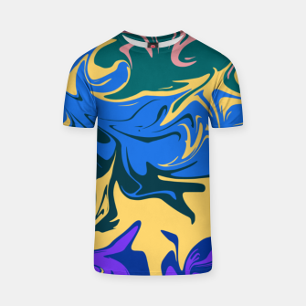 Thumbnail image of Hurricane II, abstract color storm in blue, purple and yellow T-shirt, Live Heroes