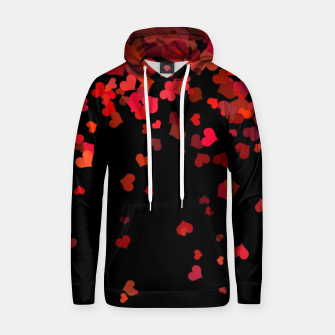 Thumbnail image of Hearts confetti in the night print Hoodie, Live Heroes