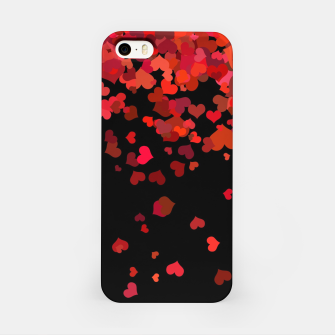 Miniatur Hearts confetti in the night print iPhone Case, Live Heroes