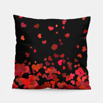 Miniatur Hearts confetti in the night print Pillow, Live Heroes