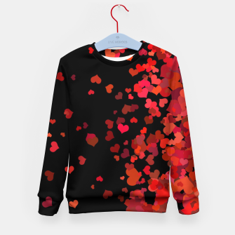 Miniatur Hearts confetti in the night print Kid's sweater, Live Heroes
