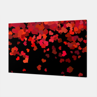 Miniatur Hearts confetti in the night print Canvas, Live Heroes