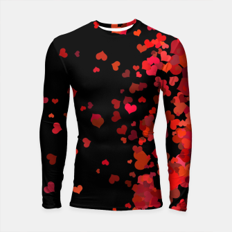 Miniatur Hearts confetti in the night print Longsleeve rashguard , Live Heroes