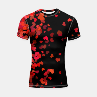 Miniatur Hearts confetti in the night print Shortsleeve rashguard, Live Heroes
