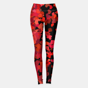 Miniatur Hearts confetti in the night print Leggings, Live Heroes