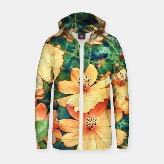 Thumbnail image of Floral Garden Zip up hoodie, Live Heroes