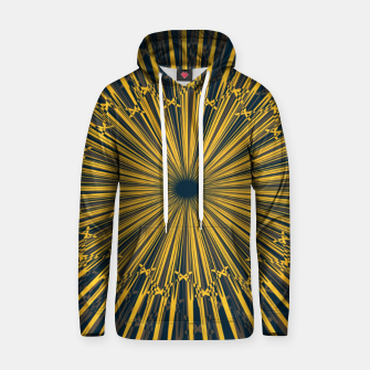 Thumbnail image of The sun print, abstract sun rays in navy blue sky Hoodie, Live Heroes