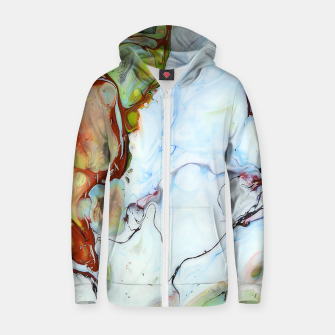Thumbnail image of Crushed Abstract Zip up hoodie, Live Heroes