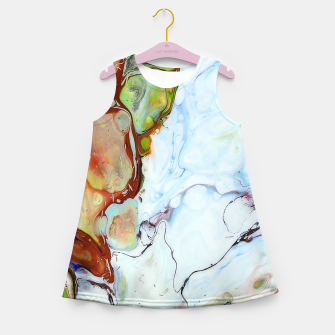 Crushed Abstract Girl's summer dress obraz miniatury