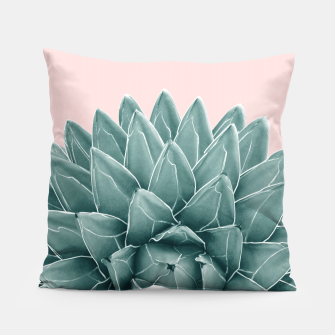 Thumbnail image of Blush Green Agave Chic #1 #succulent #decor #art  Kissen, Live Heroes