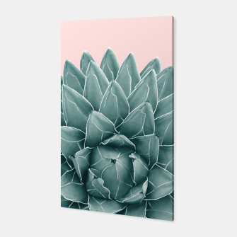 Thumbnail image of Blush Green Agave Chic #1 #succulent #decor #art  Canvas, Live Heroes