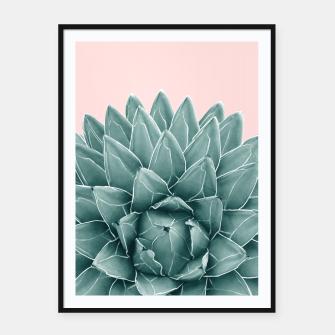 Thumbnail image of Blush Green Agave Chic #1 #succulent #decor #art  Plakat mit rahmen, Live Heroes