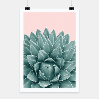 Thumbnail image of Blush Green Agave Chic #1 #succulent #decor #art  Plakat, Live Heroes