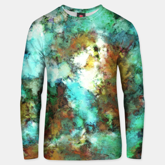Thumbnail image of Turquoise terrain Unisex sweater, Live Heroes