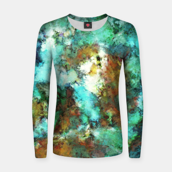 Thumbnail image of Turquoise terrain Women sweater, Live Heroes