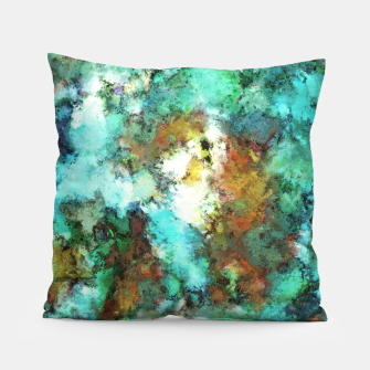 Thumbnail image of Turquoise terrain Pillow, Live Heroes