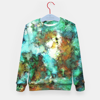 Thumbnail image of Turquoise terrain Kid's sweater, Live Heroes