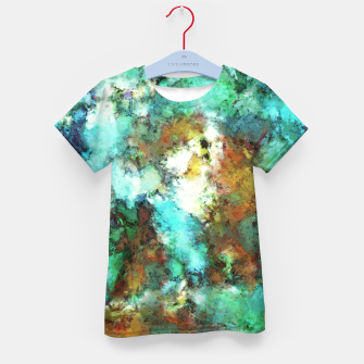 Thumbnail image of Turquoise terrain Kid's t-shirt, Live Heroes