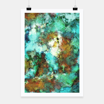 Thumbnail image of Turquoise terrain Poster, Live Heroes