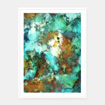Thumbnail image of Turquoise terrain Framed poster, Live Heroes