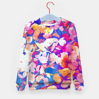 Thumbnail image of Floral Abundance Kid's sweater, Live Heroes