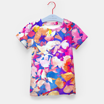 Thumbnail image of Floral Abundance Kid's t-shirt, Live Heroes