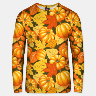 Pumpkins and Autumn Leaves Party Unisex sweater thumbnail image