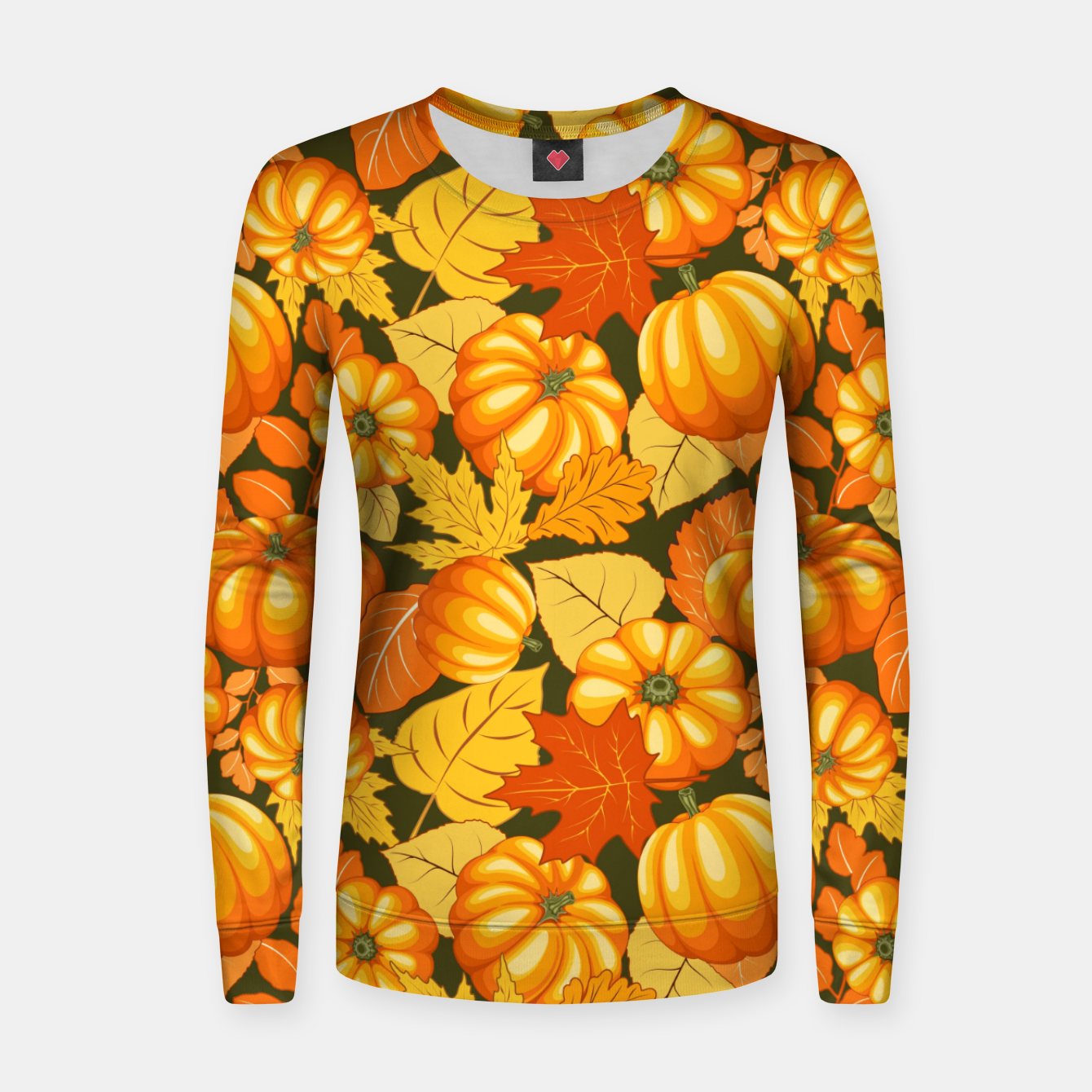 Image of Pumpkins and Autumn Leaves Party Women sweater - Live Heroes
