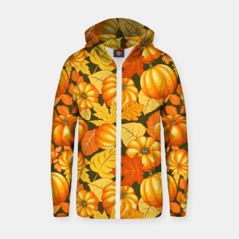 Pumpkins and Autumn Leaves Party Zip up hoodie thumbnail image