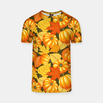 Pumpkins and Autumn Leaves Party T-shirt thumbnail image