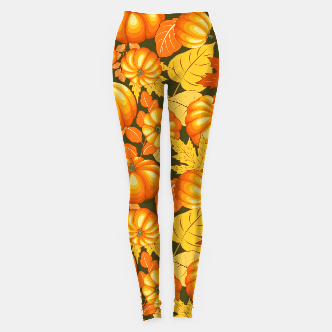 Image of Pumpkins and Autumn Leaves Party Leggings - Live Heroes