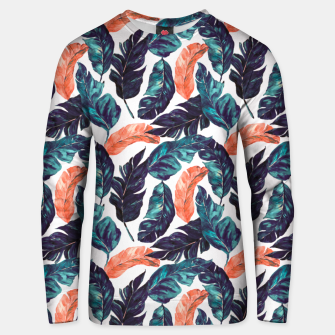 Thumbnail image of Leaf blue and pink Sudadera unisex, Live Heroes