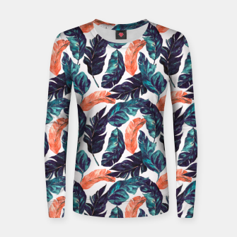 Leaf blue and pink Sudadera para mujeres thumbnail image