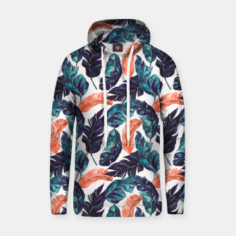 Leaf blue and pink Sudadera con capucha thumbnail image