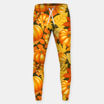 Thumbnail image of Pumpkins and Autumn Leaves Party Sweatpants, Live Heroes