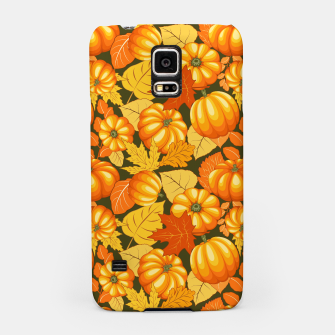 Pumpkins and Autumn Leaves Party Samsung Case thumbnail image