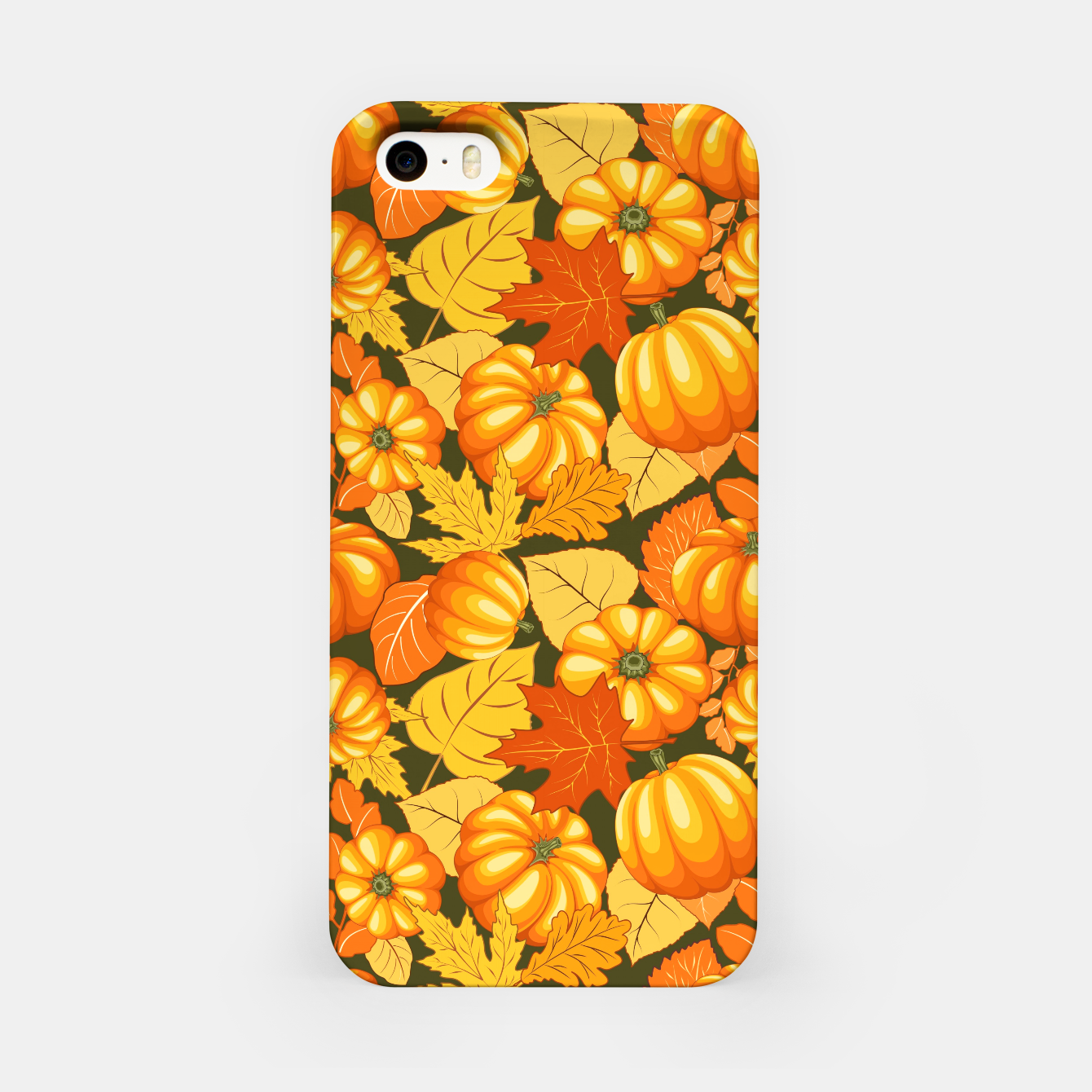 Image of Pumpkins and Autumn Leaves Party iPhone Case - Live Heroes