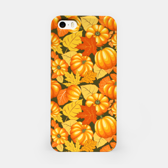 Pumpkins and Autumn Leaves Party iPhone Case thumbnail image