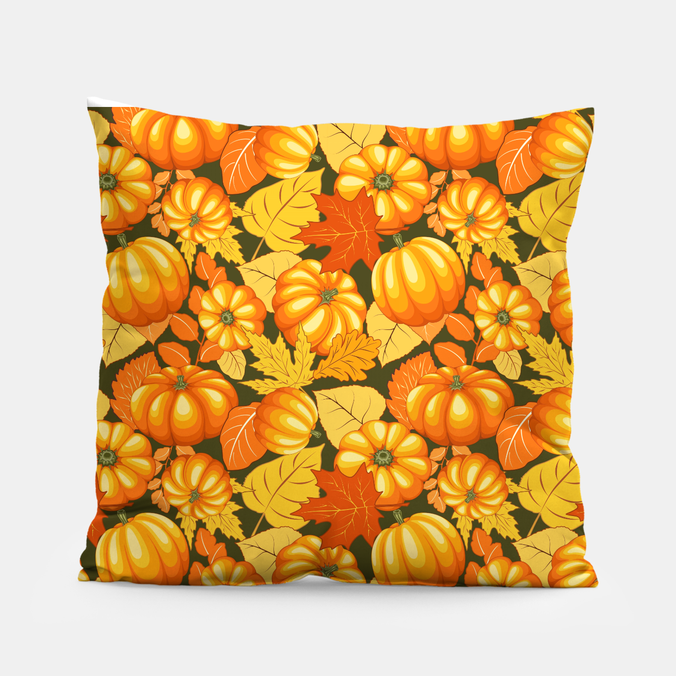 Image of Pumpkins and Autumn Leaves Party Pillow - Live Heroes