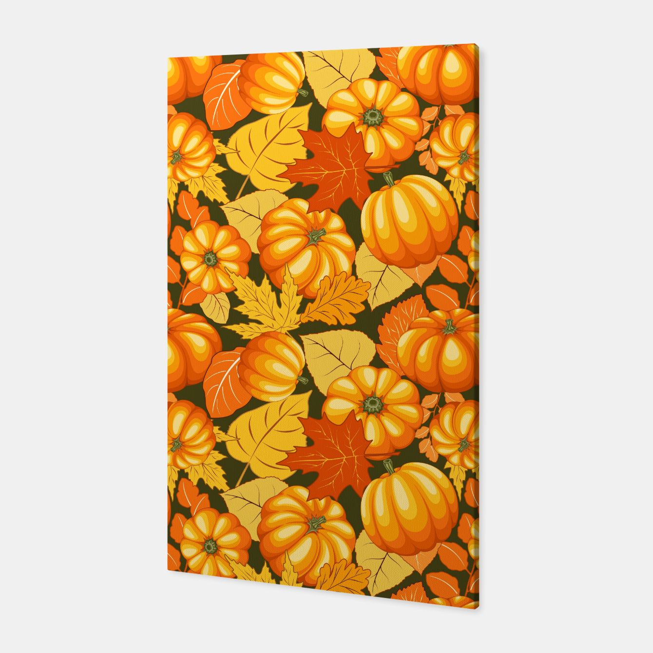 Image of Pumpkins and Autumn Leaves Party Canvas - Live Heroes