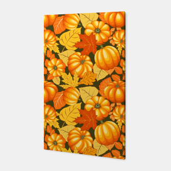 Pumpkins and Autumn Leaves Party Canvas thumbnail image
