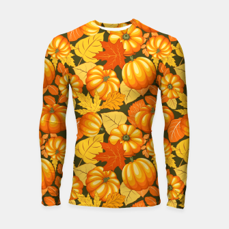 Pumpkins and Autumn Leaves Party Longsleeve rashguard  thumbnail image