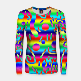 Thumbnail image of Rainbow Confetti Women sweater, Live Heroes