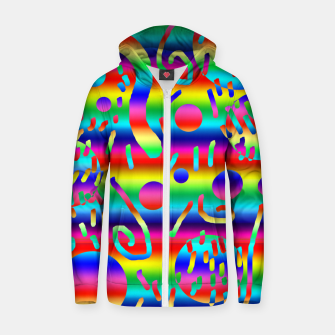 Thumbnail image of Rainbow Confetti Zip up hoodie, Live Heroes